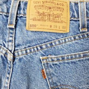 Levi's Vintage Orange Tab 550 Bermuda Shorts Sz 29